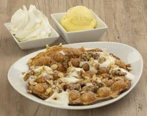 Bubble Waffel Joghurt Honig